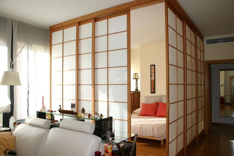 Paneles y puertas japonesas estilo shoji for Puertas de madera habitaciones