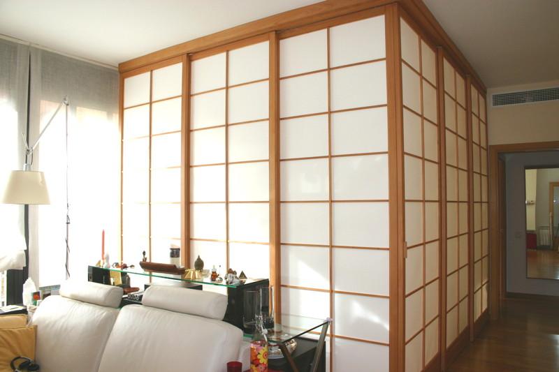 Paneles y puertas japonesas estilo shoji for Cortinas como puertas de armario