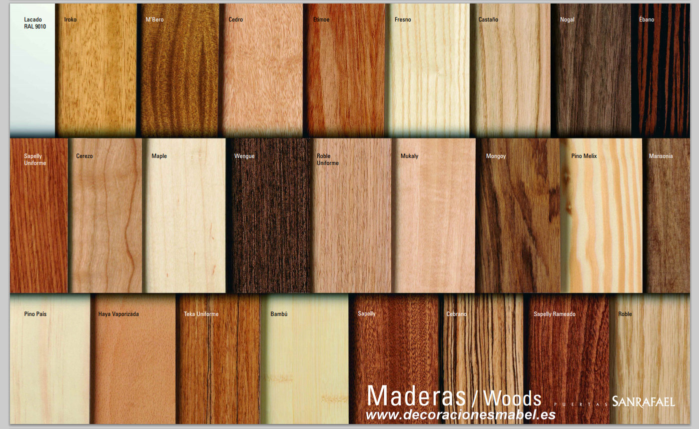 Puerta barnizada en madera serie curva 72tm for Puertas color madera