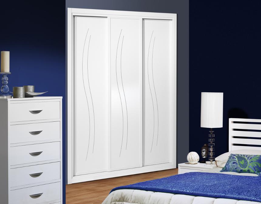 Frente de armario serie lacado modelo fantastic 01 - Pintar muebles lacados en blanco ...
