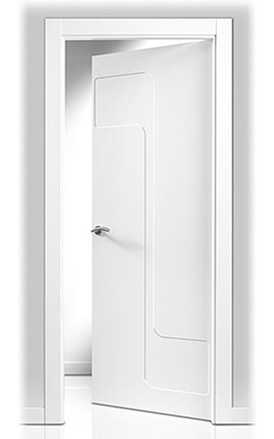 Puerta lacada en blanco sanrafael 902 - Puertas de interior lacadas en blanco precios ...